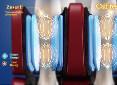 Masaje de pies con airbags de masaje