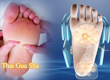 Masaje Gua Sha para la planta de los pies