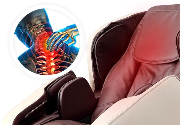 calefacción para la espalda sillón de masaje Komoder Focus