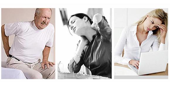 dolor de espalda baja o dolor de cuello o agotamiento
