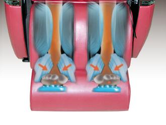 Puntos convexos para el masaje de los pies